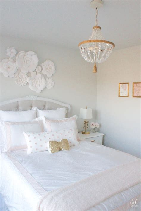 tween girls bedroom  blush gold grey  summer adams