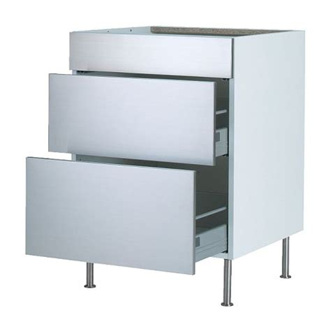 kitchen cabinet metal drawer boxes unique ikea stainless steel cabinets 7 kitchen base