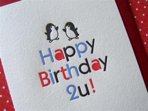 letterpress birthday card penguin  images