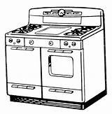 Stove Drawing Coloring Pages Getdrawings sketch template