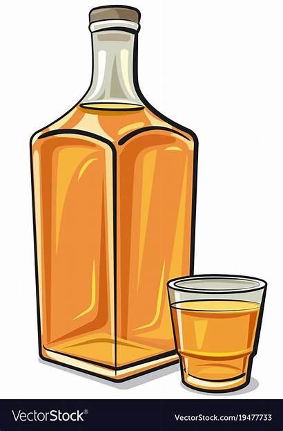 Whiskey Bottle Vector Glass Royalty Vectorstock Vectors