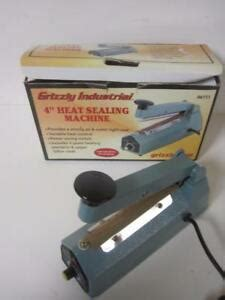 grizzly industrial  heat sealing machine seal    day guarantee  ebay