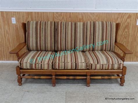 1950 s early american style maple sofa