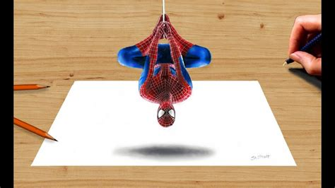 colored pencil drawing  amazing spider man