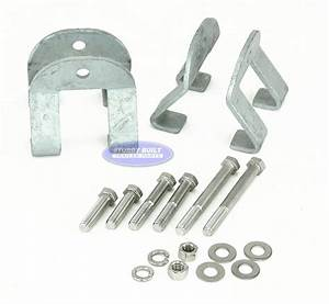 Boat Trailer I Beam Clamps Guide Pole Mounting Bracket Kit