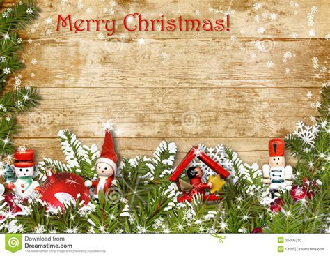 Christmas Background With Border Of Fir Branches Stock Illustration