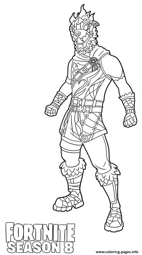 molten battle hound  fortnite season  coloring pages printable
