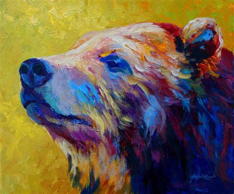 Pretty Boy  Grizzly Bear Painting By Marion Rose Pretty