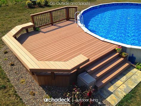 Pool Deck Around Above-ground Pool