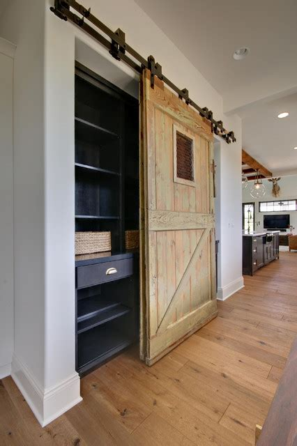 custom barn door  pantry