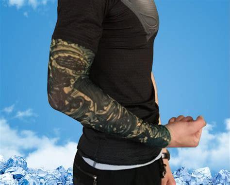 print tattoo cycling sleeve mens sports basketball