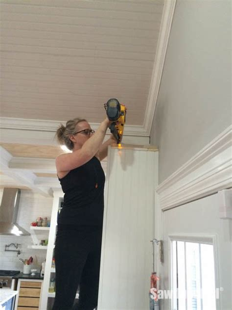 attaching crown moulding kitchen cabinets how to install crown molding on cabinets sawdust 174 7520