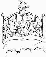 Coloring Bedtime Pages Rabbit Colouring Sheet Draw Cartoon Easter Goodnight Moon Fire Mouse Night Printable Christmas Child Bunnies Surfboard Simple sketch template