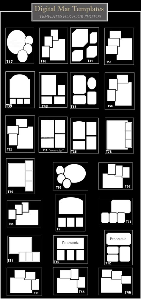 number photo collage template create a collage templates