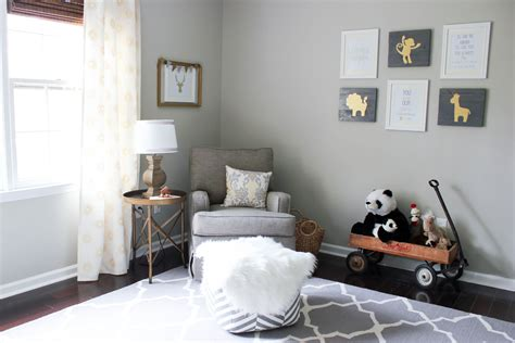 gray gold gender neutral nursery reveal erin spain