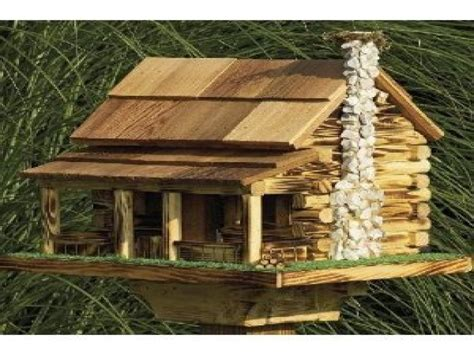 Log Cabin House Plans Large Bird Feeder Plans Log Cabin Bird House Plans Log