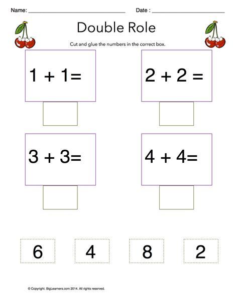 adding doubles grade math worksheets biglearners