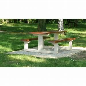 Table Beton Bois : table b ton bois tabg200 lebeau moulages beton ~ Premium-room.com Idées de Décoration