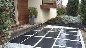 Pose Terrasse Bois Sur Gravier : cheminements et terrasses brin de nature ~ Premium-room.com Idées de Décoration