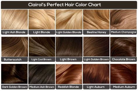Girls Hair Color Chart By Azurevirgo