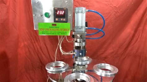 semi automatic glass aluminium foil heat sealing machine cup aluminium foil heat sealing