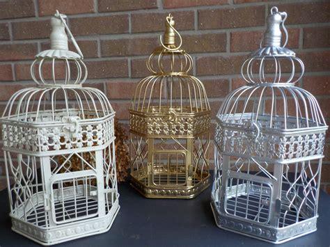 Bird Cage Wedding Card Holder Ivory Gold Silver Birdcage