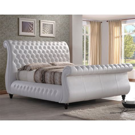 buy super king size ft bed white swan swan real leather