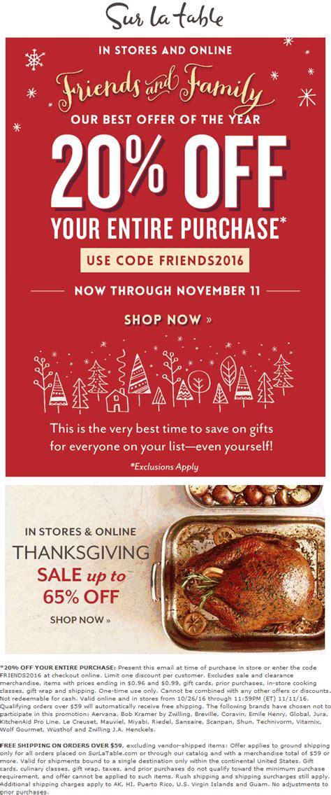 sur la table coupon code sur la table coupons 20 off at sur la table or online