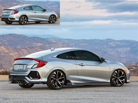 2017 Honda Civic Coupe Configurations by New 2017 Civic Si Coupe Render 2016 Honda Civic Forum