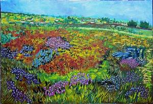 UNA PRADERA DE FLORES (Obra realizada con Acrílico y 4 colores) Alan Paul Isaac TORDJEMAN GARSON