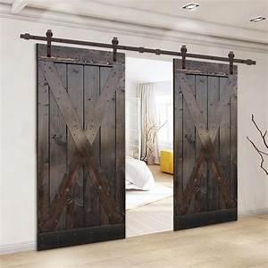 Calhome, Paneled, Wood, Primed, Room, Divider, Barn, Door, With, Installation, Hardware, Kit, U0026, Reviews