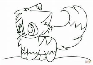 Coloriage - Chibi chaton kawaii | Coloriages à imprimer ...