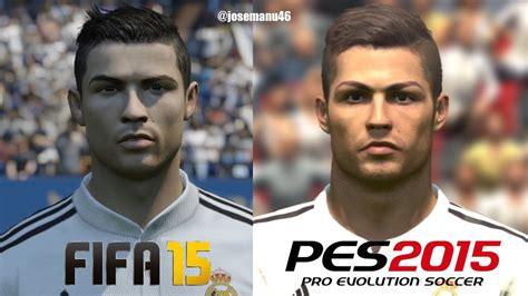 fifa   pes  real madrid face comparison youtube