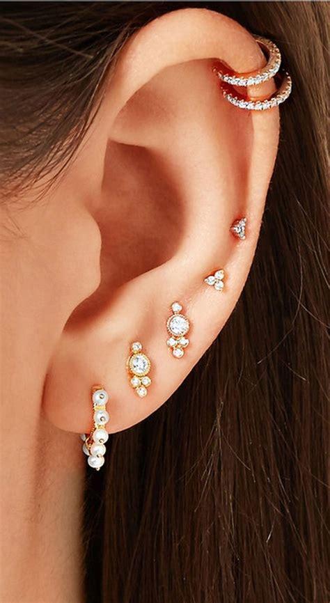 schöne mehrere ohr piercing ideen für frauen #bodyjewelry ...