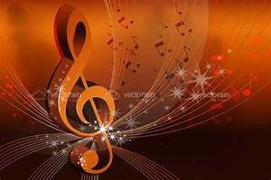 Abstract Musical Notes Card - Vectorjunky - Free Vectors ...