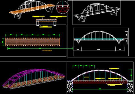 bridge project dwg full project  autocad designs cad