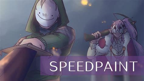 Dream Smp Dream And Technoblade Speedpaint Youtube