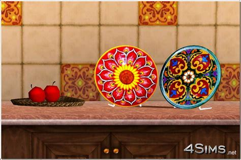 Mexican decorative plates for Sims 3   4Sims