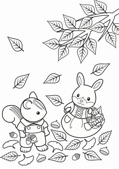 Sylvanian Families Coloring Calico Critters Pages Fun