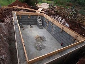 construire sa piscine en beton guidebetoncom With construction piscine hors sol en beton 0 20 photos de piscine en beton