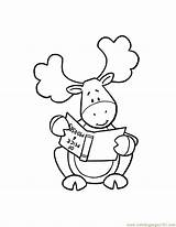 Moose Coloring Pages Muffin Funny Christmas Cartoon Thidwick Head Hearted Drawing Moosie Colouring Give Template Nate Drawings Dulemba Tuesday Getdrawings sketch template