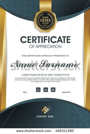 certificate template  clean  modern pattern luxury