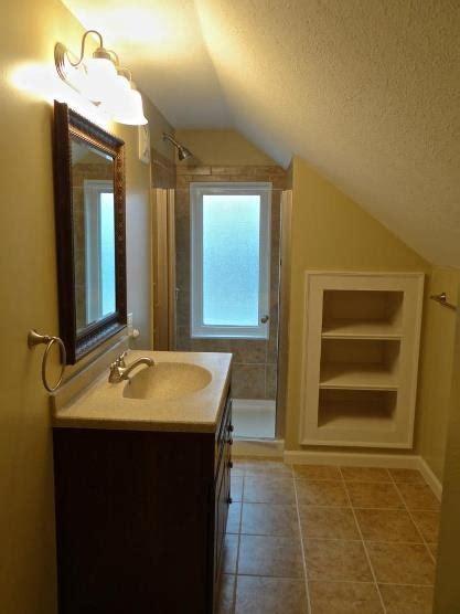 garage bathroom ideas bathroom remodel in an attic above a garage gt dmr construction 317 674 5030 projects done