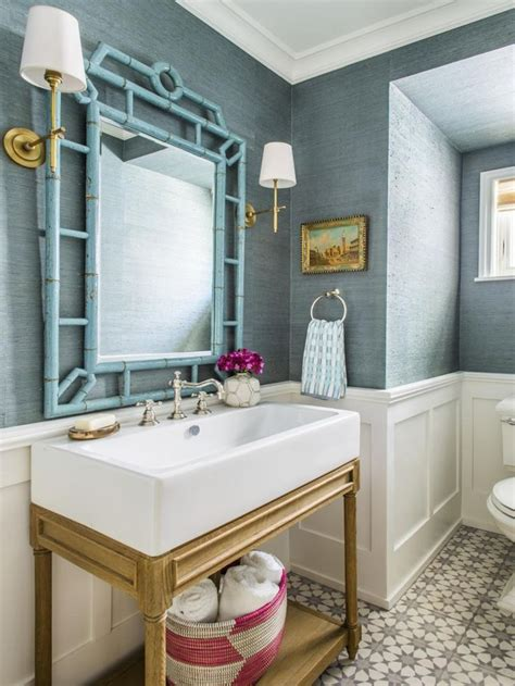 wallpapered bathroom images  pinterest bathrooms  bathrooms  beach homes
