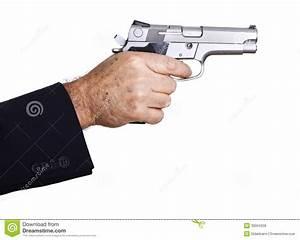Aiming Loaded Gun - Close Up Royalty Free Stock Photos ...