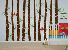 Birch Tree Wall Stencils and Decals for Sale