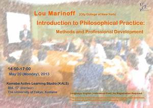 "Lou Marinoff ""Introduction to Philosophical Practice ..."