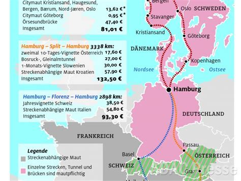 Mautstrecken österreich Karte
