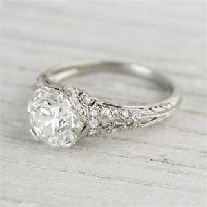 204 carat vintage tiffany co diamond engagement ring for In style wedding rings