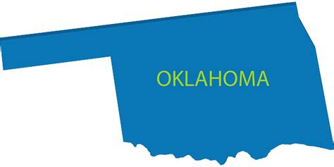 Oklahoma Map Geography · Free Vector Graphic On Pixabay